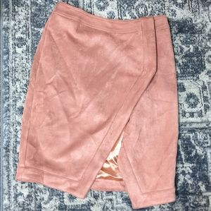 NWT Seek The Label Pink Faux Suede Mini Skirt